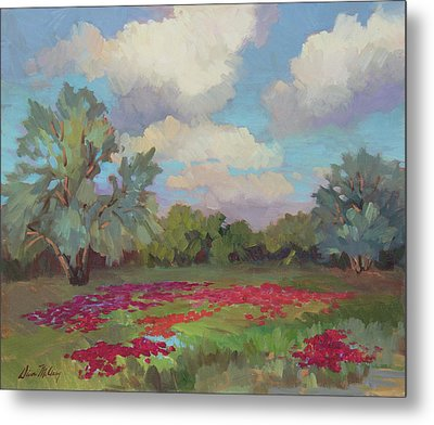 Metal Print featuring the painting Spring Poppies by Diane McClary