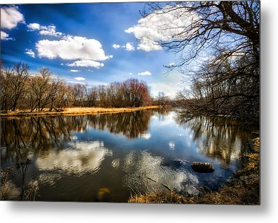 Spring Reflection - Wisconsin Landscape Metal Print by Jennifer Rondinelli Reilly - Fine Art Photography