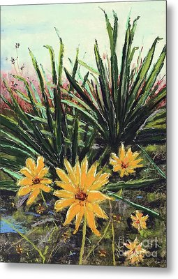 Metal Print featuring the pastel Spring Rising by Vickie Scarlett-Fisher