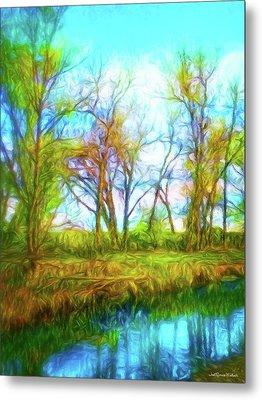 Spring River Rambling Metal Print