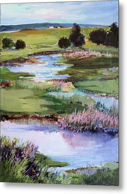 Metal Print featuring the painting Spring Runoff by Diane Ursin