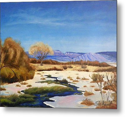 Metal Print featuring the painting Spring Runoff by Sherril Porter