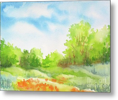 Metal Print featuring the painting Spring Scene by Inese Poga