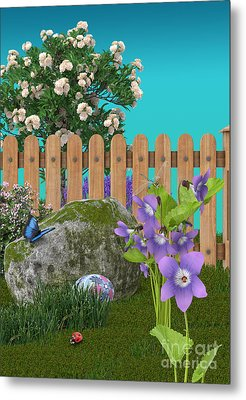 Metal Print featuring the digital art Spring Scene by Mary Machare