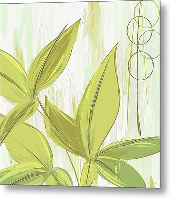 Spring Shades - Muted Green Art Metal Print by Lourry Legarde