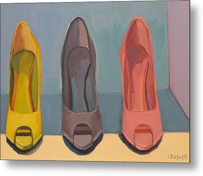 Spring Shoes Metal Print by Jennifer Boswell