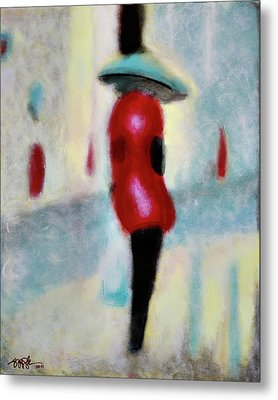 Spring Showers And Shopping Metal Print by Steve Park