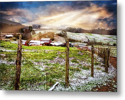 Spring Snowfall Metal Print by Debra and Dave Vanderlaan