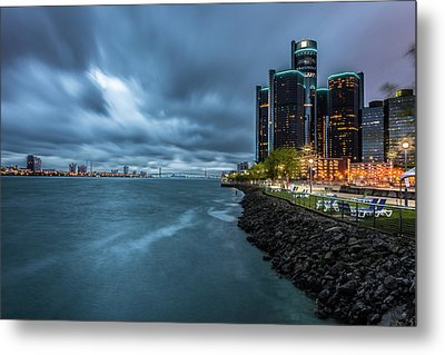 Storm Season In Detroit  Metal Print