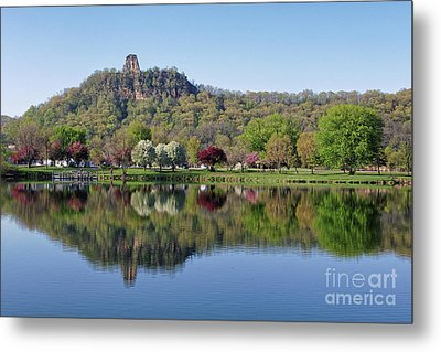 Spring Sugarloaf With Reflections Metal Print