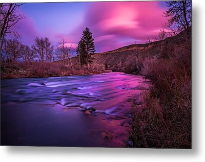 Metal Print featuring the photograph Spring Sunset Along The Truckee River Reno Nevada by Scott McGuire