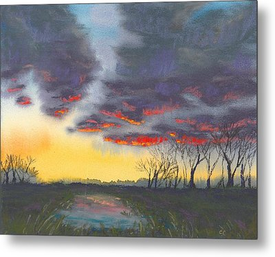 Spring Sunset Metal Print by Christine Camp