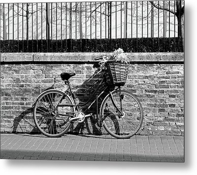 Metal Print featuring the photograph Spring Sunshine And Shadows In Black And White by Gill Billington