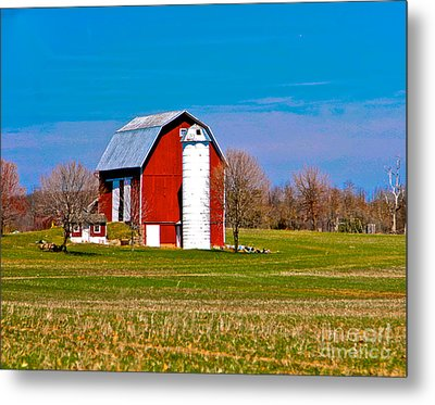 Spring Time On The Farm Metal Print by Robert Pearson