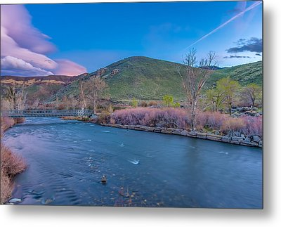 Metal Print featuring the photograph Spring Twilight Along The Truckee River Reno Nevada by Scott McGuire
