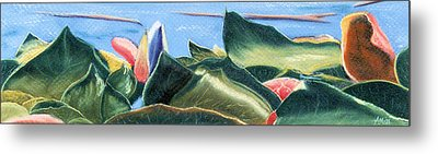Spring Waterlilies Metal Print by Jan Amiss
