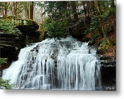 Metal Print featuring the photograph Springfield Falls by Skip Tribby