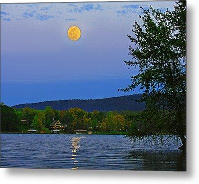 Spring's First Full Moon Smith Mountain Lake Metal Print
