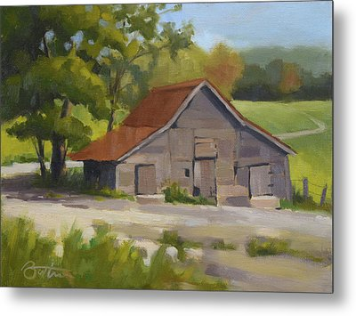 Springs Horse Barn Metal Print by Todd Baxter