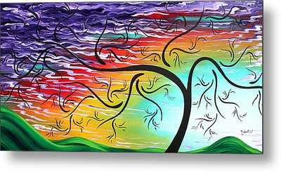 Springs Song By Madart Metal Print by Megan Duncanson