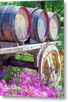 Springtime At V Sattui Winery St Helena California Metal Print by Michelle Wiarda