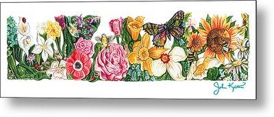 Springtime Flowers Metal Print by John Keaton