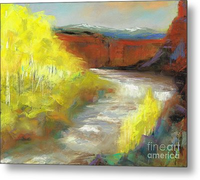 Metal Print featuring the painting Springtime In The Rockies by Frances Marino