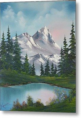 Springtime Mountain Metal Print