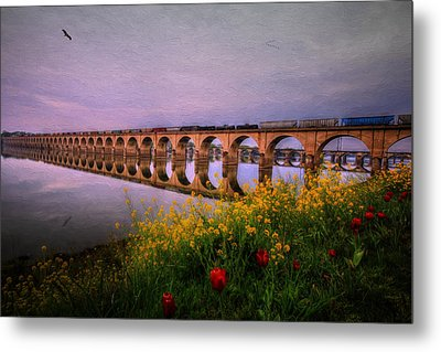 Metal Print featuring the photograph Springtime Reflections From Shipoke by Shelley Neff