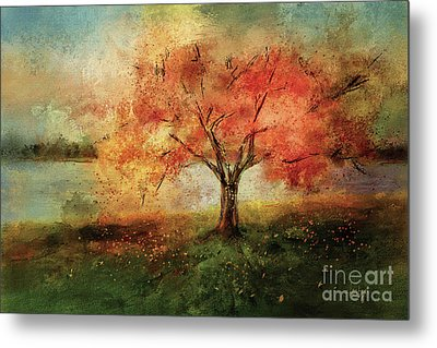 Metal Print featuring the digital art Sprinkled With Spring by Lois Bryan