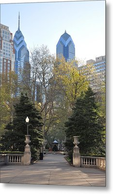 Sprintime At Rittenhouse Square Metal Print by Bill Cannon