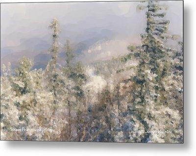 Spruce Peak Summit At Sunday River Metal Print