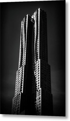 Metal Print featuring the photograph Spruce Street By Gehry by Jessica Jenney