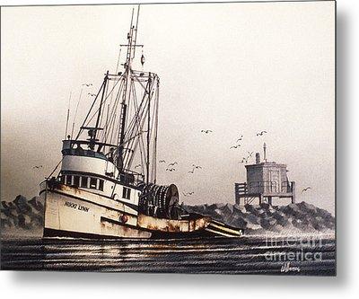 Squalicum Harbor Metal Print by James Williamson