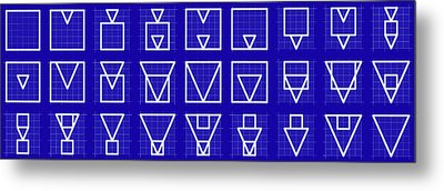 Squangle -alphabet- Grid Blueprint Metal Print by Coded Images