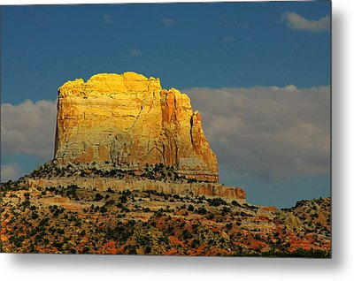 Square Butte - Navajo Nation Near Kaibeto Az Metal Print by Christine Till