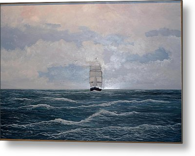 Square Rigger Metal Print by Ken Ahlering