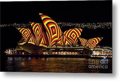 Square Sails - Sydney Opera House - Vivid Sydney Metal Print