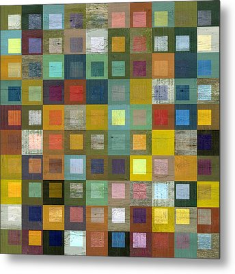 Metal Print featuring the digital art Squares In Squares Five by Michelle Calkins