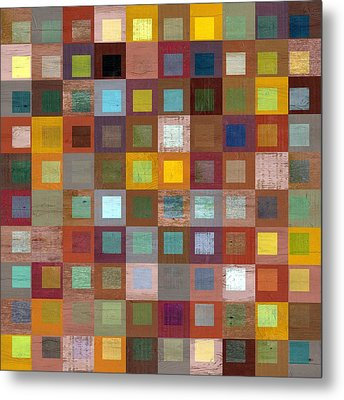 Metal Print featuring the digital art Squares In Squares Four by Michelle Calkins