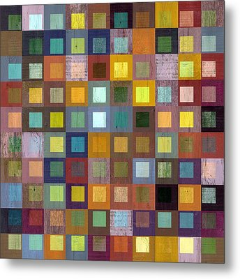Metal Print featuring the digital art Squares In Squares One by Michelle Calkins