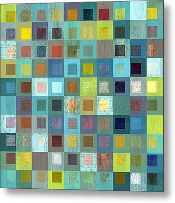 Metal Print featuring the digital art Squares In Squares Two by Michelle Calkins