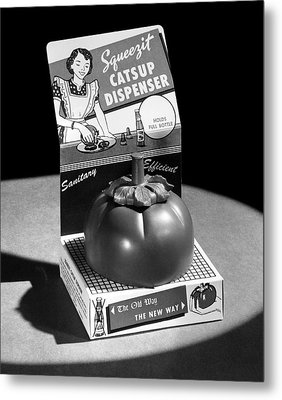 Squeezit Catsup Dispenser Metal Print by Underwood Archives