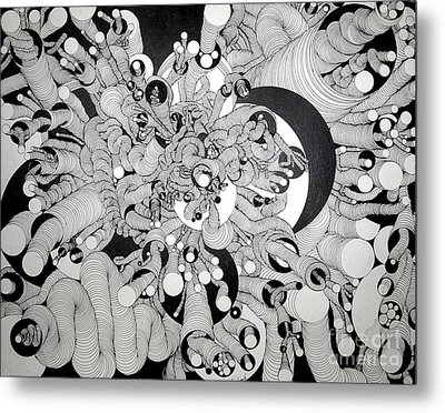 Squiggle Art By Amy Metal Print
