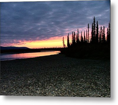 Squirell River Sunset Metal Print