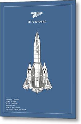 Sr-71 Blackbird Metal Print by Mark Rogan