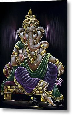Sri Ganapati Metal Print by Tim Gainey