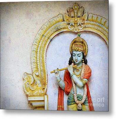 Sri Krishna Metal Print by Tim Gainey