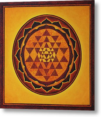 Sri Yantra - The Glow Of The Beloved Metal Print