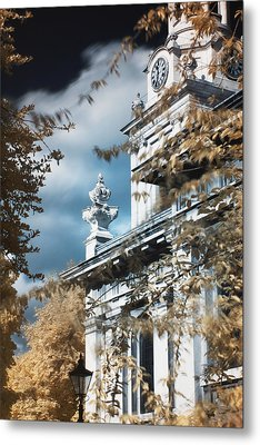St Alfege Parish Church In Greenwich, London Metal Print by Helga Novelli
